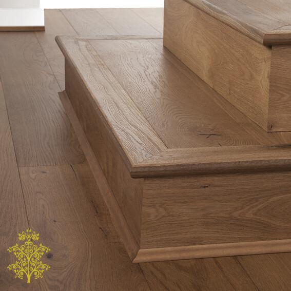 Balinese Oak GrandOak™ Engineered Oak Timber Flooring Stair Nose | Lion King Flooring