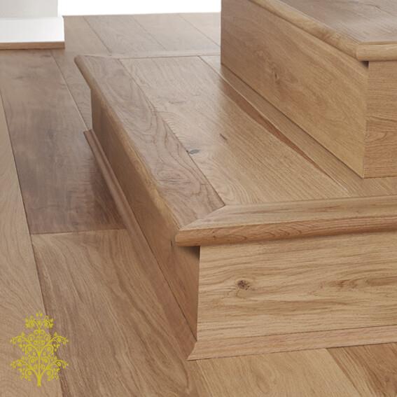 European Oak GrandOak™ Engineered Oak Timber Flooring Stair Nose | Lion King Flooring