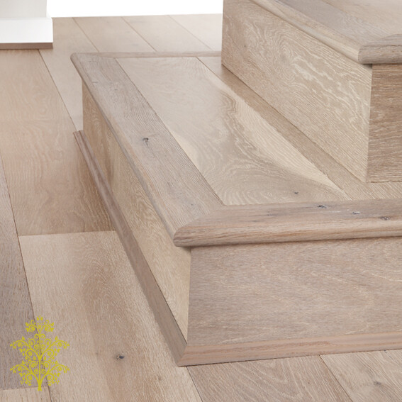 Mink Grey Oak GrandOak™ Engineered Oak Timber Flooring Stair Nose | Lion King Flooring