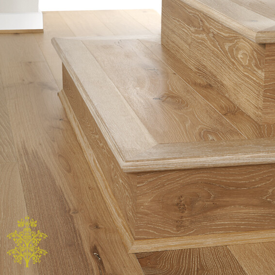Uluru Oak GrandOak™ Engineered Oak Timber Flooring Stair Nose   Lion King Flooring