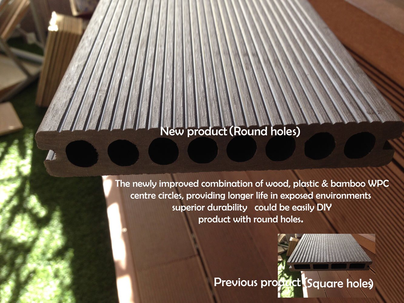 Solardeck Bamboo Wood Plastic Composite Wpc Outdoor