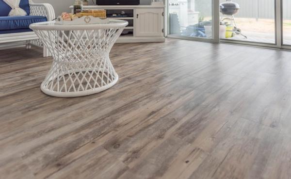 Hybrid flooring installed