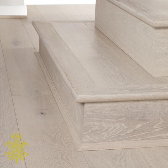 Arctic Oak GrandOak™ Engineered Oak Timber Flooring Stair Nose   Lion King Flooring