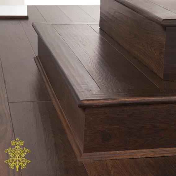 Burnt Oak GrandOak™ Engineered Oak Timber Flooring Stair Nose | Lion King Flooring