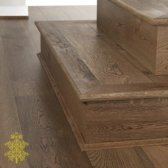 Canyon Oak GrandOak™ Engineered Oak Timber Flooring Stair Nose   Lion King Flooring