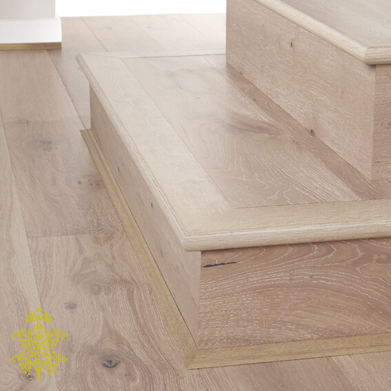 Limed Oak GrandOak™ Engineered Oak Timber Flooring Stair Nose | Lion King Flooring