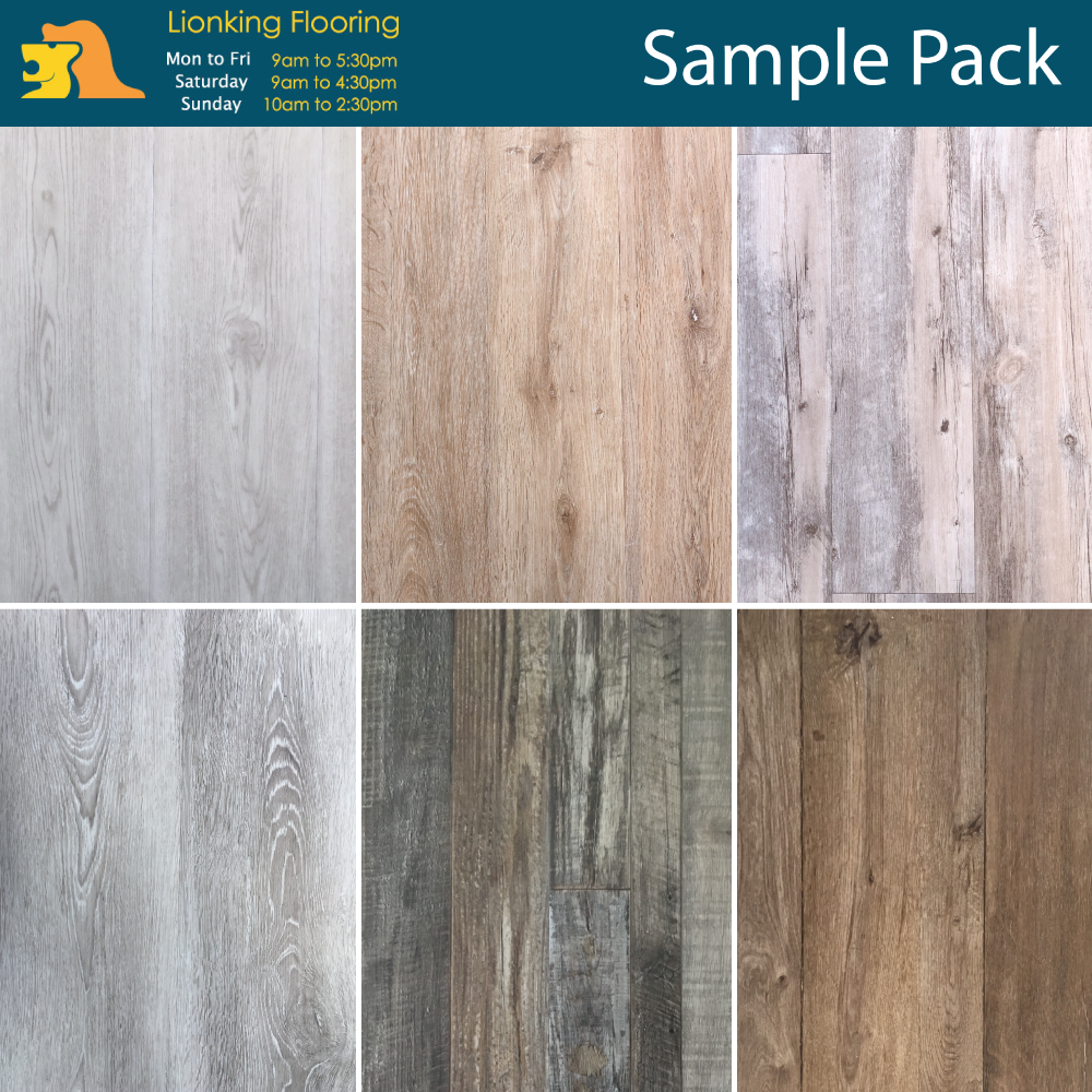 7mm Wpc Vinyl Flooring Plank Sample Pack Hard Wearing